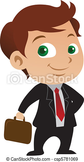 biznesmen, młody - csp5781069