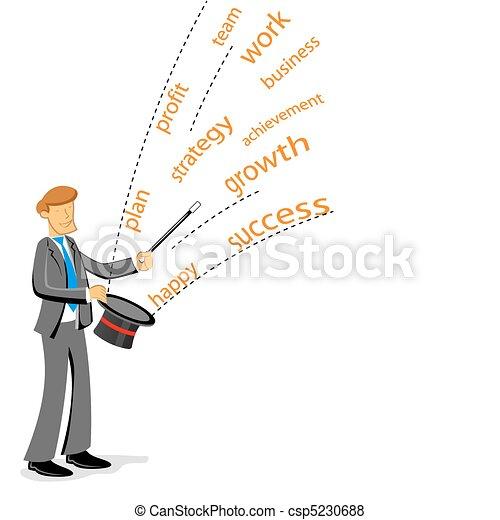 biznesmen, pokaz, magia - csp5230688