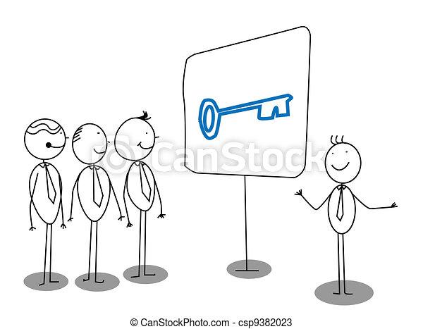 biznesmen, prezentacja - csp9382023