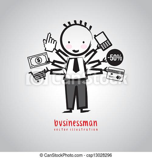 biznesmen - csp13028296