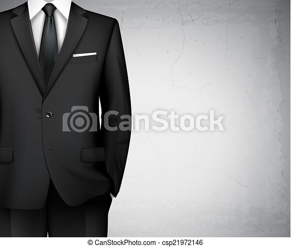 biznesmen, tło, garnitur - csp21972146