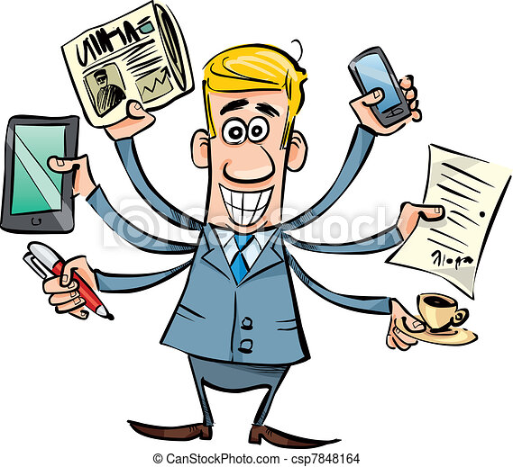 biznesmen, zajęty - csp7848164