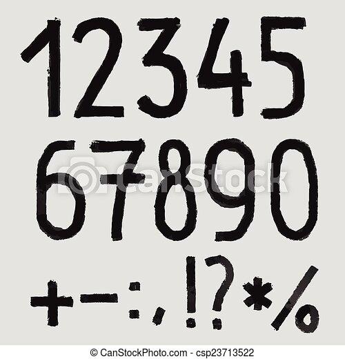 blackboard., abc, rysunek, alfabet, textured, kreda, chrzcielnica, szorstki, ręka - csp23713522
