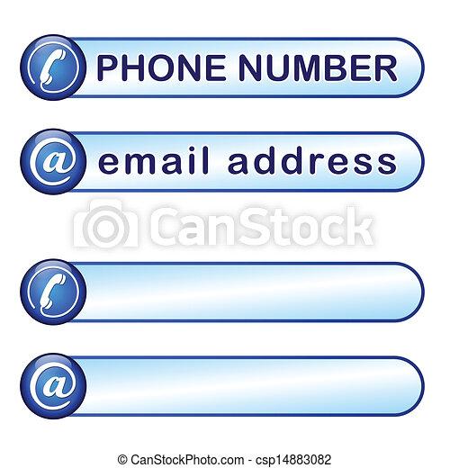 boks, telefon, poczta adres - csp14883082