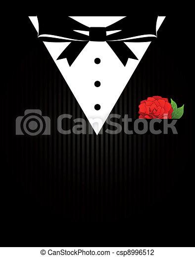 bowtie, smoking, koszula, zatkać się - csp8996512