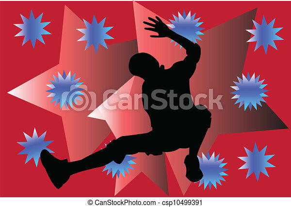 breakdance, wektor, -, tło - csp10499391