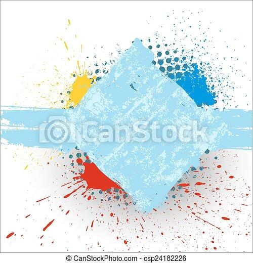 brudny, grunge, szorstki, chorągiew, powierzchnia - csp24182226