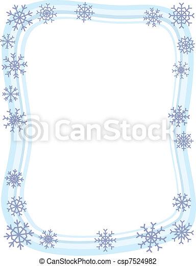 brzeg, zima, płatek śniegu - csp7524982