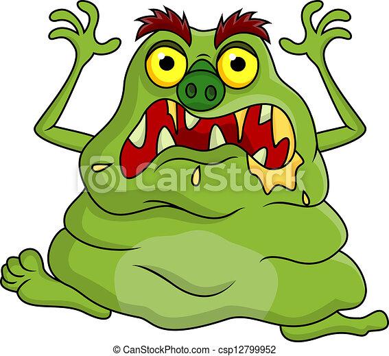 brzydki, potwór, rysunek - csp12799952