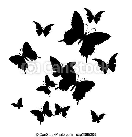 butterfly., ilustracja, wektor - csp2365309