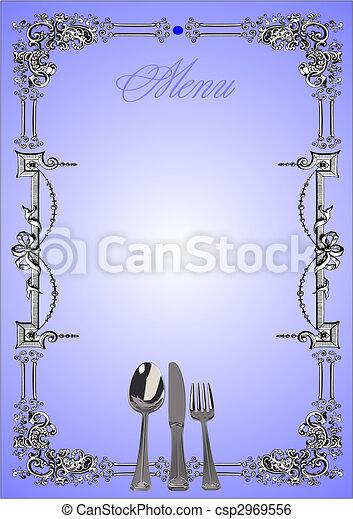 (cafe), wektor, menu., ilustracja, restauracja - csp2969556