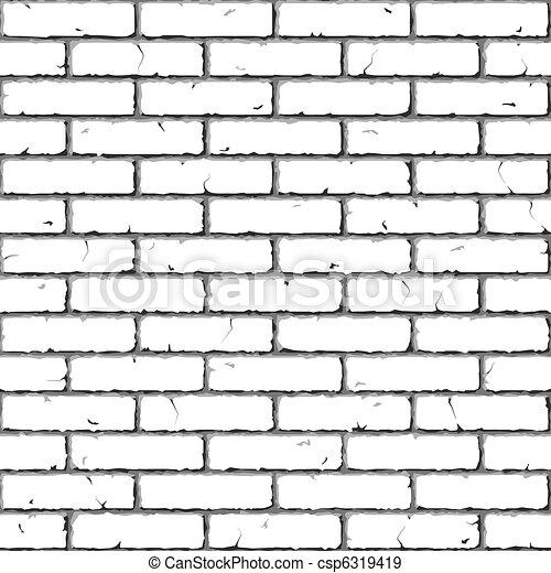 cegła, wall., texture., seamless - csp6319419