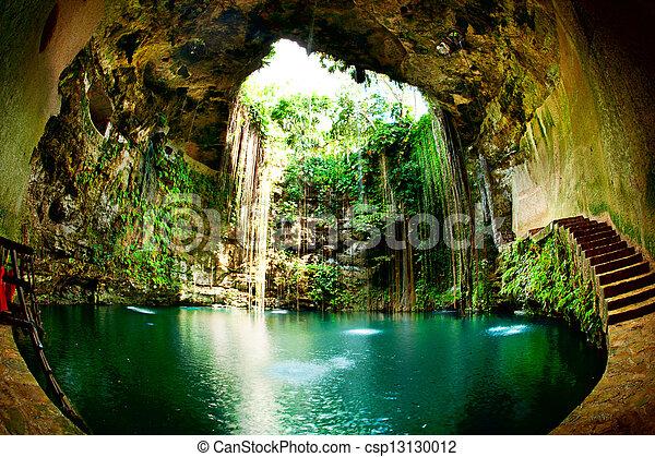 cenote, meksyk, chichen, ik-kil, itza - csp13130012
