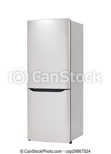 chłodnia, biały, nowoczesny, odizolowany, tło - csp29867524
