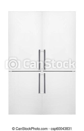 chłodnia, biały, nowoczesny, odizolowany, tło - csp60043831