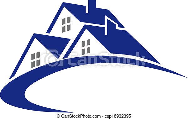 chata, dom, symbol, nowoczesny, albo - csp18932395