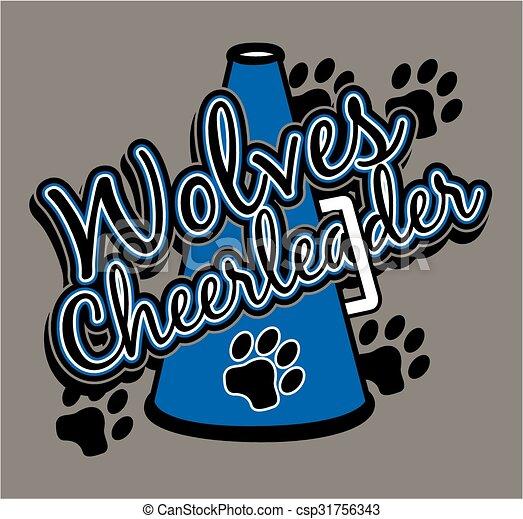 cheerleader, wolves - csp31756343