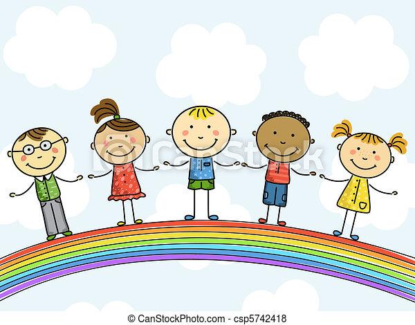 children., illustration., wektor - csp5742418