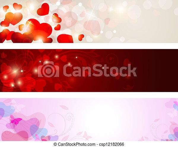 chorągwie, valentine - csp12182066