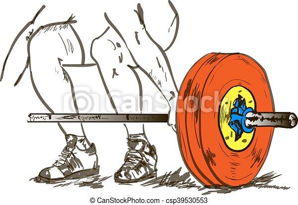 ciężki, atletyka - csp39530553