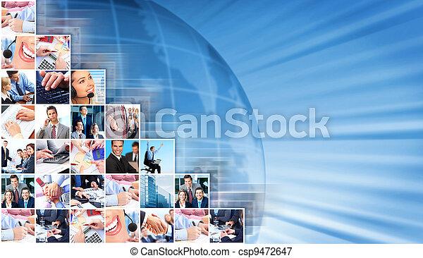 collage, tło., handlowy zaludniają - csp9472647