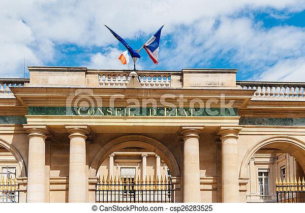 conseil, paryż, d'etat, -, stan, rada, francja - csp26283525