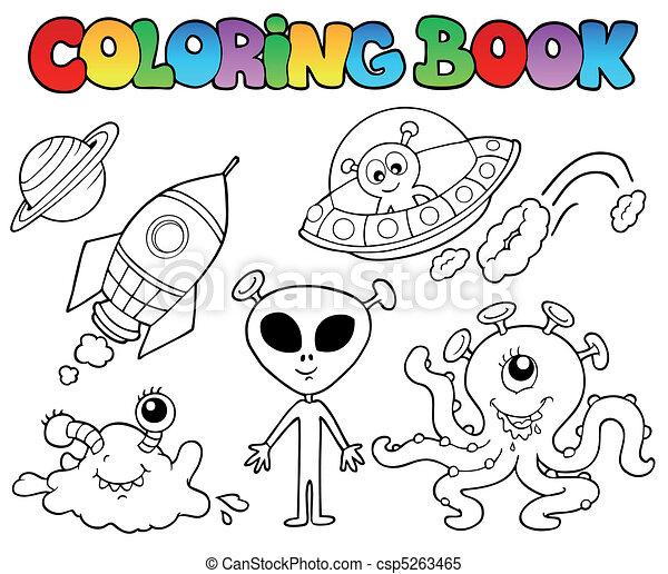 cudzoziemcy, koloryt książka - csp5263465