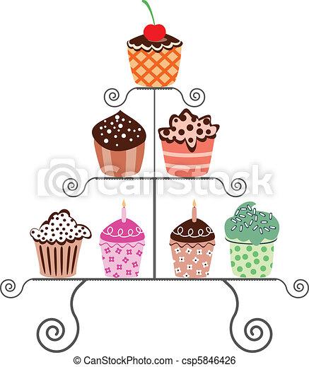 cupcakes, stać - csp5846426