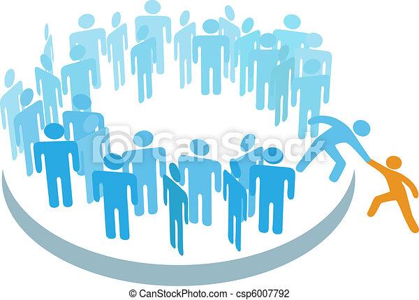 członek, grupa, pomoc, ludzie, wielki, nowy, wstąpić - csp6007792