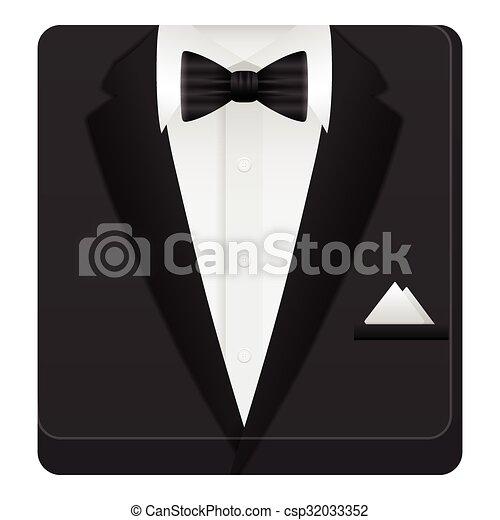 człowiek, garnitur, ikona - csp32033352