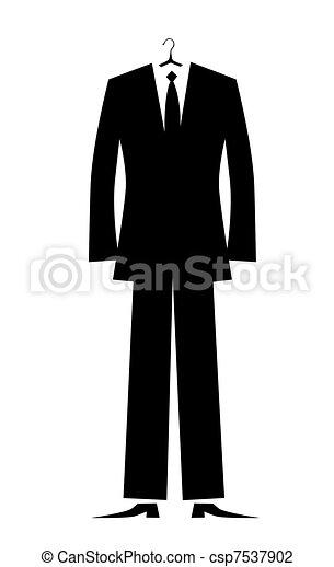 człowiek, projektować, twój, garnitur - csp7537902