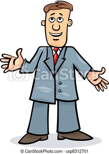 człowiek, rysunek, garnitur - csp8312701