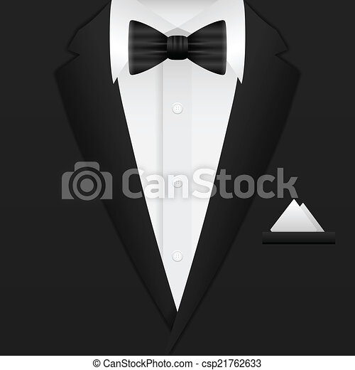 człowiek, tło, garnitur - csp21762633