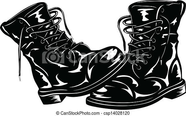 czarnoskóry, czyścibut, armia - csp14028120