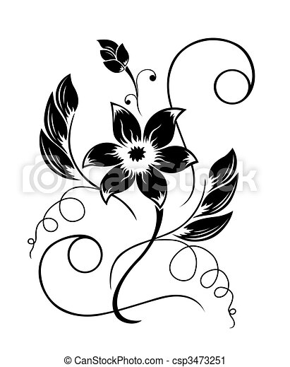 czarnoskóry, próbka, kwiat, biały - csp3473251