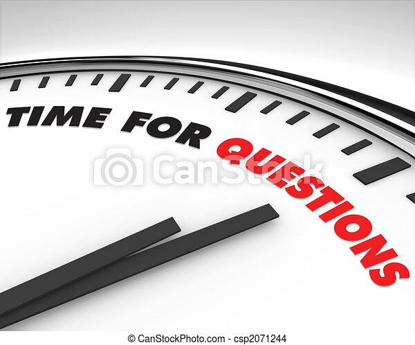 czas, -, pytania, zegar - csp2071244