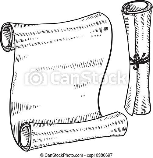 czysty, rys, dokument, albo, woluta - csp10380697