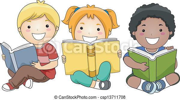 czytanie, książki, dzieci - csp13711708
