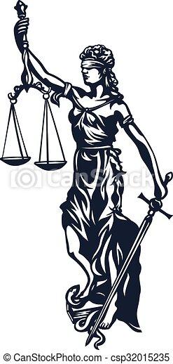 dama, femida, sprawiedliwość - csp32015235