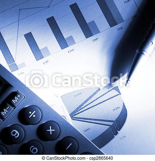 dane, finansowy, analizując - csp2865640
