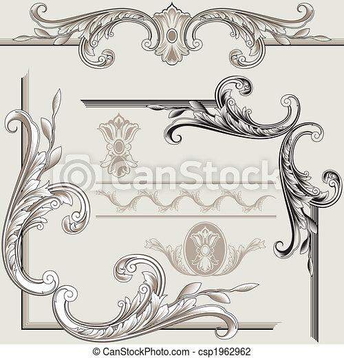 dekoracje, elementy, klasyk - csp1962962