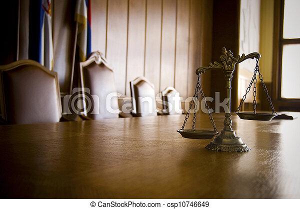dekoracyjny, sprawiedliwość, pokój sędziów, skalpy - csp10746649