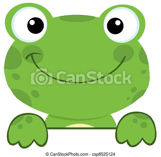 deska, znak, na, żaba, uśmiechanie się - csp8525124