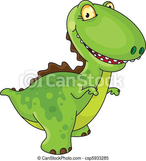 dinozaur, śmiech - csp5933285