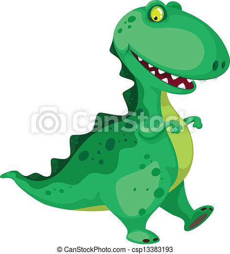 dinozaur, chodzenie - csp13383193
