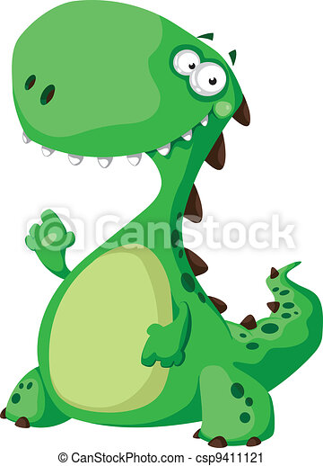 dinozaur, zielony - csp9411121