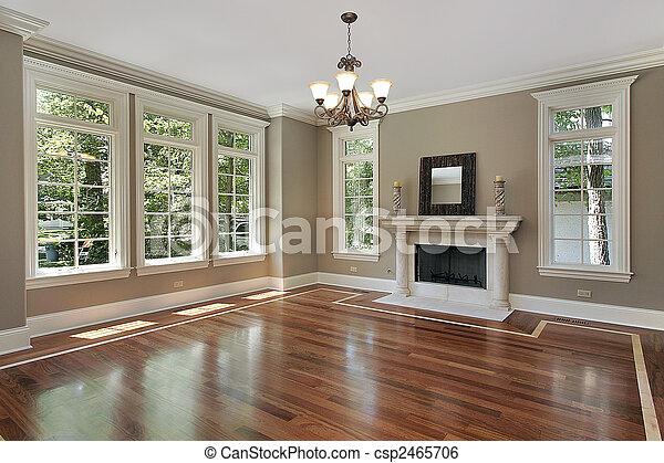 dom, żyjący, zbudowanie, pokój, nowy - csp2465706