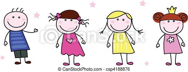 doodle, -, wtykać figury, dzieci - csp4188876