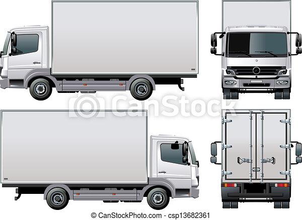 doręczenie, /, wózek, ładunek - csp13682361