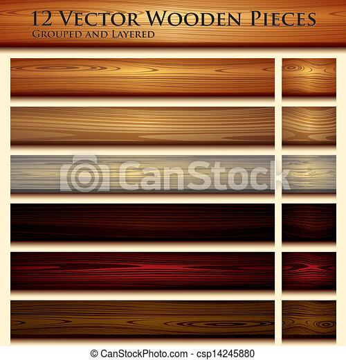 drewniana budowa, tło, ilustracja, seamless - csp14245880